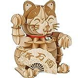 ZOULME DIY Puzzle, Lucky Cat Model, 3D Holzpuzzle GamesToys für Kinder Kinder Mädchen Geburtstagsgeschenk