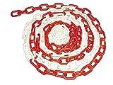10 m Absperrkette - Stahl - rot/weiß beschichtet - Ø 4mm