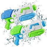 Wasserpistole Spielzeug Kinder KOROSTRO,2 Stück Wasser Blaster(800ML),Großer Kapazität&Hohe Reichweite Erwachsene Wasserspritzpistolen,Junge Wassergewehr SommerParty,Pool&Strandspielzeug,(Blau/Grün)