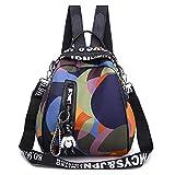 Rucksack Damenanzug Bunten Kreis Oxford Tuch Outdoor-Rucksack Multifunktionale Reisetasche Anzug