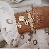 Hand Armband Armreif Armkette Damen 4 Stück/Set Vintage Silber Farbe Böhmische Armbänder Für Frauen Geometrische Metal