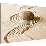 Bilder Zen Garten Wandbild 60 x 40 cm Vlies - Leinwand Bild XXL Format Wandbilder Wohnung Deko Kunstdrucke - MADE IN GERMANY - Fertig zum Aufhängen 501415