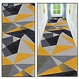 QXTT Teppichläufer Flur, Teppich Läufer Flur rutschfest Teppich Flur Waschbar Korridor Küche Geometrisches 3D-Druckmuster Nach Maß Modernes Schlafzimmer Bettumrandung Teppich,200x250cm