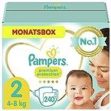 Pampers Größe 2 Premium Protection Baby Windeln, 240 Stück, MONATSBOX, Weichster Komfort Und Schutz (4-8kg)