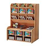 Aufbewahrungsbox aus Holz, multifunktional, für Stifte, zu Hause, Büro, Schule, Büro