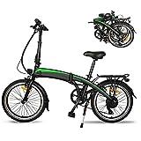 City E-Bike, Professionelles 7-Gang-Getriebe,,3 Fahrmodi Ausdauer 50-55 km,25 km/h, Ebike mit 36V 7.5AH 250W Bürstenlosen Motor, Elektrofahrrad Klapprad,