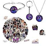 Julie und die Phantoms-Aufkleber, 100 Stück, Halskette und Armband, Schmuck-Set und Schlüsselanhänger für Kinder, Mädchen, Teenager, Erwachsene