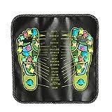 Pepional Fußreflexzonenmatte Fußmassage-Regenerationsmatte Reflexzonen-Matte Stein,Fußmassage Mit Kieselstein Imitaten Für Akkupressur Fußprobleme Fersensporn