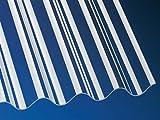 Highlux® Acrylglas-Profilplatte (PLEXIGLAS® Rohmasse), 3mm Stark, P5 177/51, glasklar, glatt 920mmx2000