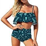 Bikini-Badeanzug für Damen, Zahnarzt-Zubehör, zweiteiliger Badeanzug für Mädchen, Reise-Halfter mit Rüschen Gr. 52, stil 1