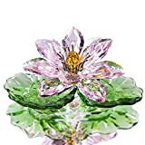 PPLAA 3.7''pink funkeln kristall Huer Reflexion kristall Lotus Blume Kunst Glas Home Decor Collection dtektop Ornament