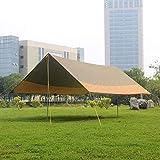 EXCLVEA Zeltplane Camping Outdoor Canopy Zelt Barbecue Markise Markise Strand Freizeit Outdoor Pergola Gewächshaus zum Wandern Camping (Farbe : Yellow+Green, Size : 550x440x240cm)