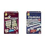 Schmidt Spiele 49282 - Classic Line MyRummy, Legespiel mit großen Spielsteinen & 49207 Classic Line, Domino, mit großen Spielsteinen, b