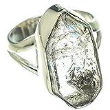 Herkimer Diamond, Herkimer Diamant 925 Sterling Silber Ring 6