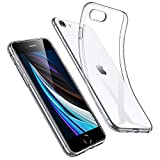 ESR Klar Silikon Hülle Kompatibel mit iPhone SE 2020/8/7, Dünne Transparente Handyhülle, Durchsichtige Flexible Kratzfest Vergilbungsfrei TPU Schutzhülle