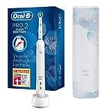 Oral-B PRO 2 2500 Design Edition Elektrische Zahnbürste/Electric Toothbrush mit visueller Andruckkontrolle für extra Zahnfleischschutz, 2 Putzprogramme inkl. Sensitiv, Timer & Reiseetui, weiß