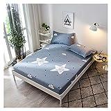 QIANGU Spannbettlaken, lichtbeständig, atmungsaktiv, pflegeleicht, hohe Fadenzahl, hohe Dichte, rutschfest, abriebfest (Farbe: E, Größe: 120 x 200 cm + 30 cm)