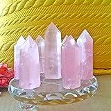 UERA Natürlicher Rosa Fluorit 5060MM Kristalltherapie Quarzstein Punkt Heilung Hexagonal Zauberstab Behandlungskristall trendy