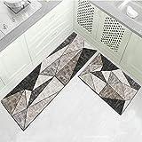 OPLJ rutschfeste Moderne Wohnküche Matte Eingang Fußmatte Gebetsteppich Schlafzimmer Arbeitszimmer Teppiche Waschbare Fußmatte A5 40x120cm