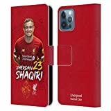 Offizielle Liverpool Football Club Xherdan Shaqiri 2019/20 Erstes Team Gruppe 1 Leder Brieftaschen Handyhülle Hülle Huelle kompatibel mit Apple iPhone 12 / iPhone 12 Pro