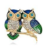 Dian Jewellery Stilvolle Vintage Eulen-Brosche für Damen und Mädchen, Anstecknadel für Schal oder Mantel, Tier-Brosche für Damen
