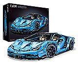 Italienisches Supercar, blau, 12-Zylinder, 3842 Teile (kompatibel mit Lego Technic), von MOC Desinger Thijs de Boer, C61041 CaDA Master, C61041W