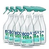 Ecover Glasreiniger Grüner Tee & Grapefruit (6x 500 ml) – Glas- und Fensterreiniger mit pflanzenbasierten, biologisch abbaubaren Inhaltsstoffen, Veganer-freundliche Formel