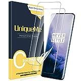 UniqueMe [3 Stück] Schutzfolie für Oneplus 7T Pro/Oneplus 7 Pro Displayschutz, Blasenfrei, TPU Oneplus 7T Pro [Blasenfreie] [Anti-Kratzer] Display