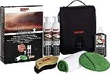 SONAX PremiumClass LederPflegeSet - Entfernt gründlich und schonend selbst hartnäckige Verschmutzungen, ohne das Leder anzugreifen oder auszulaugen | Art-No. 02819410