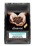 Kaffee ESPRESSO ENTKOFFEINIERT Premium Roast von Gourvita, 500g Bohnen