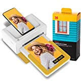 Kodak PD460 Dock Plus, 4x6 fotodrucker, Kompatibel mit Allen Bluetooth- und Smartphone, Tintenpatronen und 90 Fotopapiers enthalten
