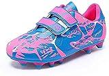 Mitudidi Fußballschuhe Mädchen 31 Fussballschuhe Athletics Trainingsschuhe Indoor Hallenschuhe Outdoor Atmungsaktiv Fussball Schuhe Sportschuhe für Unisex-Kinder Pink