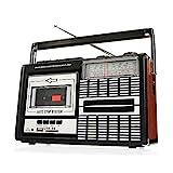 Ricatech PR85-80er Jahre Kassettenrekorder und -rekorder, AM/FM/SW-Radio, USB, SD-Kartensteckplatz, integriertes Mikrofon, Auto Stopp,Leicht, mobil,1x8 Watt eingebaute Lautsprecher,Kopfhö