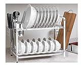 Abtropfgestell, doppelschichtig, Aluminium, Küchenregal, Multifunktions-Schneidebrett-Rack, Essstäbchenhalter