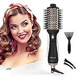 Adkwse Haartrockner 2020 Warmluftbürste Hair Dryer Volumizer Styler 5 in 1 Föhnbürste Heißluftbürste Negativer Ionen Stylingbürste Bürste Heißluftkamm Volumenbürste Für Alle Styling
