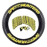 HUANRU Auto Brief Aufkleber Auto Reifen Aufkleber, Tire Style 8 X Reifenaufkleber, SPEEDHUNTERS Mit Logo, Dekorative Aufkleber Motorrad Fahrrad Rad Dekoration