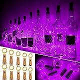Ariceleo Flasche, 10 Stück, 20 LEDs, 2 Meter, batteriebetrieben, Kupferdraht, Flasche, Lichterkette mit Kork, für Weihnachten, Hochzeit, Hallow