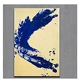 OPBGM Yves Klein Anthropometrie Prinzessin Helena Ölgemälde Druck auf Leinwand Wandkunst Bild für Wohnkultur -20X30 Zoll ohne Rahmen