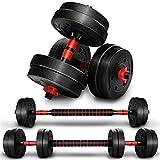 RE:SPORT 2 in 1 Hanteln Set 15 kg | Hantelset verstellbar | Kurzhantel & Langhantel | Sternverschlüsse & Verbindungsrohr