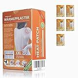 Happyplast Wärmepflaster XXL im 5er Set   14,5 cm x 10 cm   selbsthaftend, flexibel & langanhaltend bis zu 8 Stunden   mit 2 Wärmekissen   100% natürliche Wärmepads für Nacken & Rücken