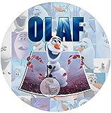Für die Geburtstags Torte, Zuckerbild mit dem Motiv: Frozen Die Eiskönigin ( OLAF ), Essbares Foto für Torten, Fondant, Tortenaufleger Ø 20cm, 0206c