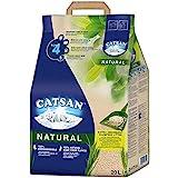 CATSAN Natural – Kompostierbare Klumpstreu für Katzen aus 100% Pflanzenfasern – 1 x 20 L