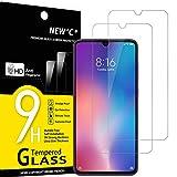 NEW'C 2 Stück, Schutzfolie Panzerglas für Xiaomi Mi 9, Frei von Kratzern, 9H Härte, HD Displayschutzfolie, 0.33mm Ultra-klar, Ultrabeständig