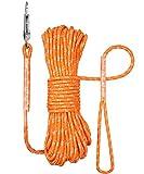 TagME Reflektierend Schleppleine für Kleine Hunde,Seil Hundeleine 15M,Orang