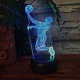 Cast Basketball Sport FüHrte 3D-Illusion Touch 7 Farbwechsel Acryl Lampe Schlafzimmer Nachtlicht Fans Beste Kind Jungen Mann Geschenk