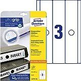 AVERY Zweckform L4757-25 Hängeordner-Etiketten (mit ultragrip, 63 x 297 mm auf DIN A4, blickdicht, selbstklebend, bedruckbare Ordneretiketten, 75 Stück auf 25 Blatt) weiß
