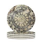 Tentenentent Keramikuntersetzer Glatte Keramik Personalisiert Keramikbecheruntersetzer Einzigartig - Dreamy für Lounge Geburtstagsgeschenk white5 6pcs