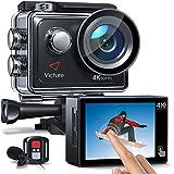 Victure AC920 Action Cam 4k/60fps 20MP EIS Anti-Shake WiFi Touchscreen Helmkamera 40M Unterwasserkamera mit Fernbedienung und externem Mik