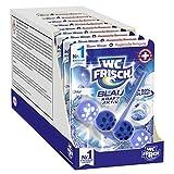 WC FRISCH Kraft Aktiv Blauspüler Chlor, WC-Reiniger, 10 Stück, Farbspüler mit 50 Prozent mehr Glanz