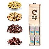 KERNenergie Summernuts Set (360g) – Hochwertige Nussmischungen in der Summer Edition –Edle Geschenk-Idee in Holzbox